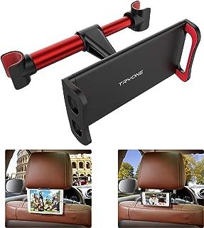 「Tryone」ヘッドレスト 後部座席用 4.7-10.5インチ スマホ/タブレット 車載ホルダー ヘッドレスト バーの適用幅範囲12.5cm~15cm (赤)