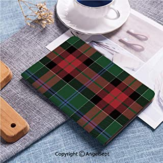 Case for iPad 2 3 4 Leather Case,Multiple Viewing Angles for Apple iPad 2nd 3rd 4th Generation,Textured Tartan Plaid