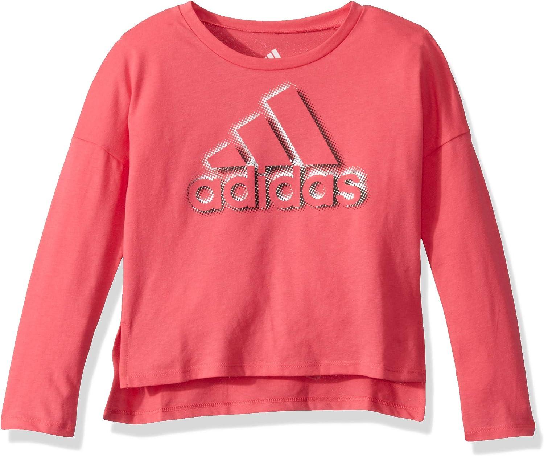 adidas Girls' Long Sleeve Drop Shoulder T-Shirt