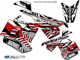 Compatible with Polaris 2011-2014 RMK/SWITCHBACK Mayhem Red Sled Wrap