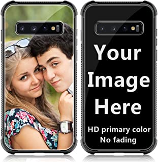 Shumei Custom Case for Samsung Galaxy S10+ Plus Glass Cover 6.4 inch Anti-Scratch Soft TPU Personalized Photo Make Your Own Picture Phone Cases