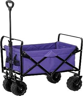 purple folding utility wagon