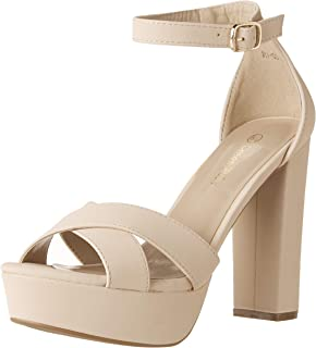 e587972c8ee2 DREAM PAIRS Women s Hi-Lo High Heel Platform Pump Sandals