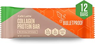 Bulletproof Collagen Protein Bars, Healthy Snacks for Keto Diet, Made with MCT Oil, Gluten Free, for Men, Women, and Kids,...