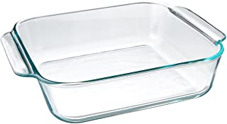 "Pyrex FBA_1105395 Basics 8.1"" Square (2 Quart), 8 inch, Clear"