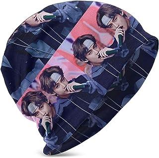 LREFON BTS KPOP Rap Music Poster Niños Casual Beanie Hat Invierno Warm Knit Ski Beanies Skull Cap
