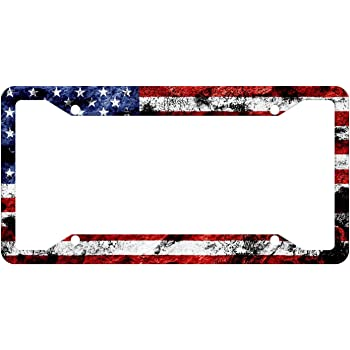 Amazon Com Airstrike American Flag License Plate Frame American Flag License Plate Holder American Flag Frame 30 235 Automotive