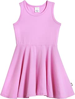 City Threads Girls' Skater Party Dress Cotton Twirly Tank Dress for School Play