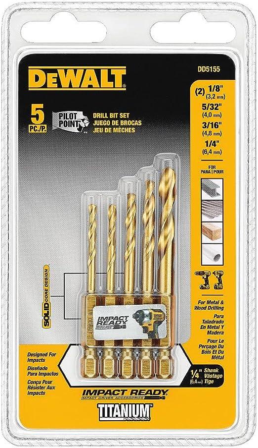 DeWalt DT50013 Extreme 8 mm HSS-G Impact Drill Bit Tige Hex Neuf Titane version