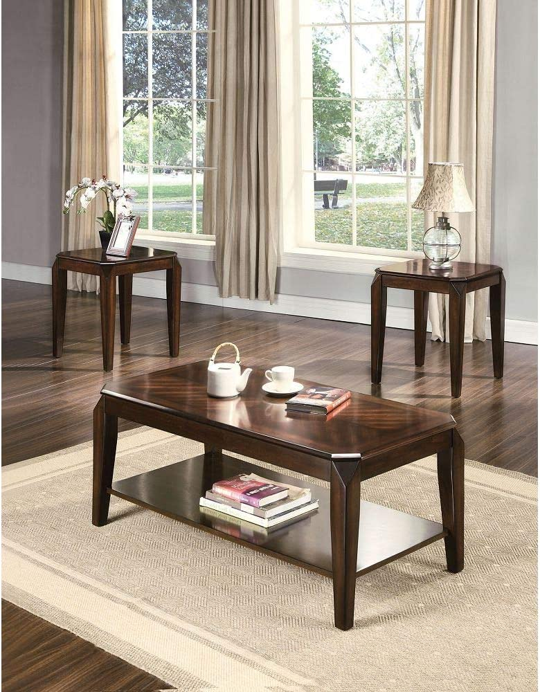 Knocbel 3 Pieces Coffee Table Set for Sofa Room Baltimore Mall Side Dallas Mall Living Cof