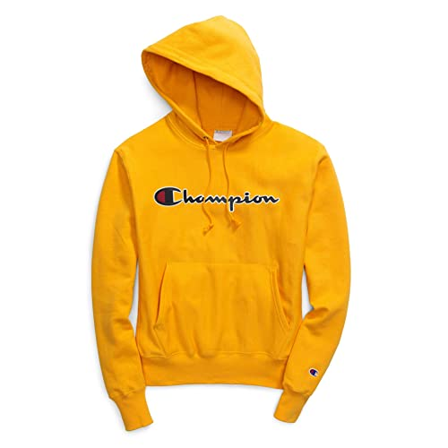 Champion Youth Yellow XS-XL Powerblend Sweat Pullover Hoodie Fleece