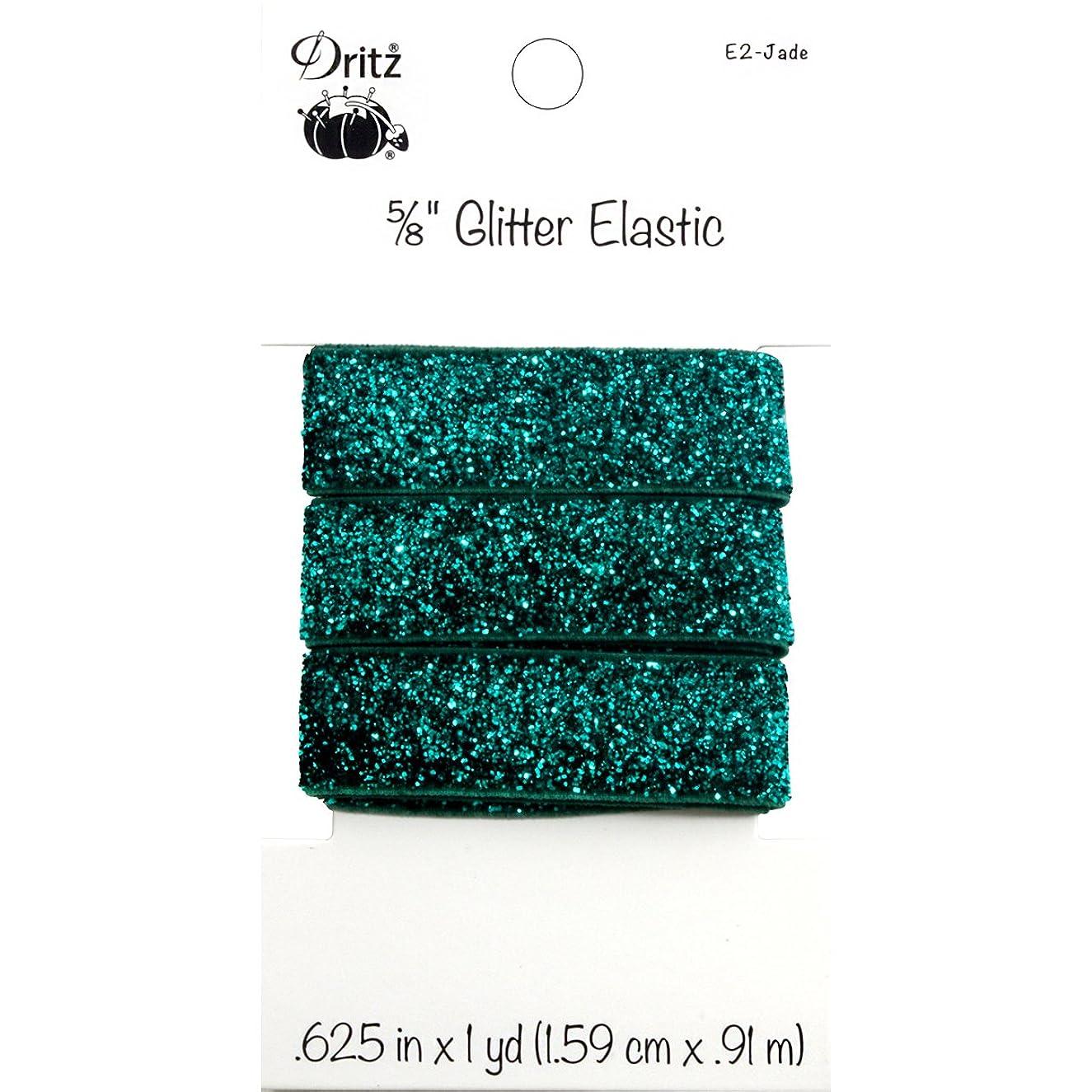 Dritz Glitter Elastic, 5/8-Inch x 1-Yard, Jade