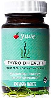 Yuve Natural Organic Sea Kelp Supplement - Thyroid Support with Iodine 225 mcg - Vegan, Plant Based, Non-GMO, Gluten-Free,...