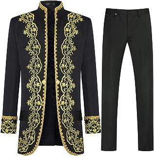 Men's Luxury Suits 3 Piece Casual Slim Fit Stylish Dress Suit Royal Style Tuxedo Blazer Coats Jackets & Vest & Trousers
