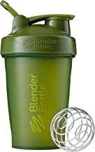 BlenderBottle C01621 Classic Loop Top Shaker Bottle, 20oz, Moss Green/Moss Green