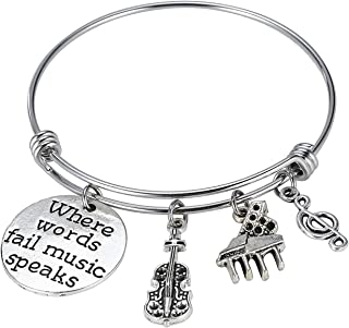 Music Jewelry Music Bracelet Music Teacher Charm Bracelet Music Teacher Bracelet