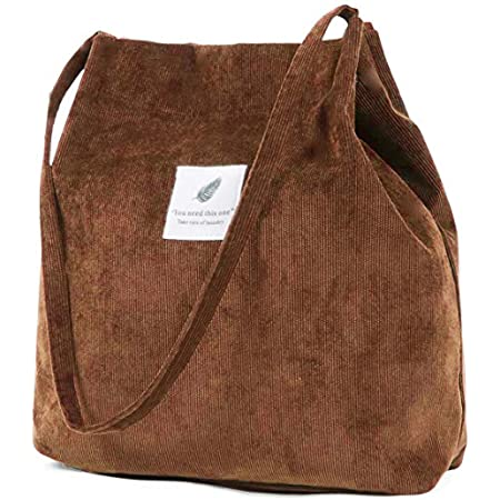 ZhengYue Damen Handtasche Groß Canvas Tasche Damen Cord Umhängetasche Henkeltasche Shopper Damen für Uni Arbeit Mädchen Schule