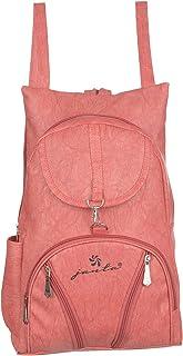 JANTA PU Leather shoulder Backpack Women's,college bag for Girls-(ORange-3239)