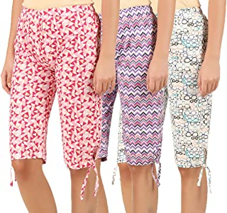 Elk Womens Cotton Printed Shorts 3 Color