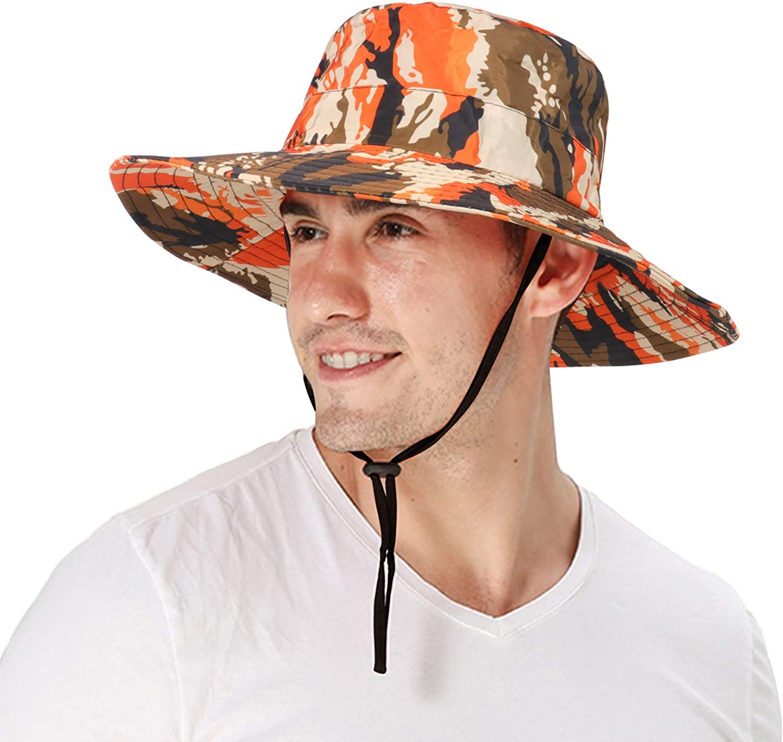 DOCILA Camo Boonie Bucket Hat for Men Women Military Style Outdoor Fishing Safari Hunting Fisherman Sun Caps