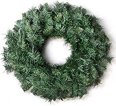 Christmas Wreath 60cm Jingle Jollys Xmas Hanging Ornaments Décor Home Door Wall Green PVC 200 Tips