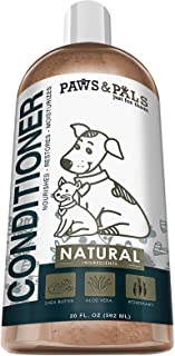 Dog Conditioner For Dry Itchy Skin - Treatment Best for Puppy Dogs & Cat Hair - Pet Detangler Oatmeal Bath ...