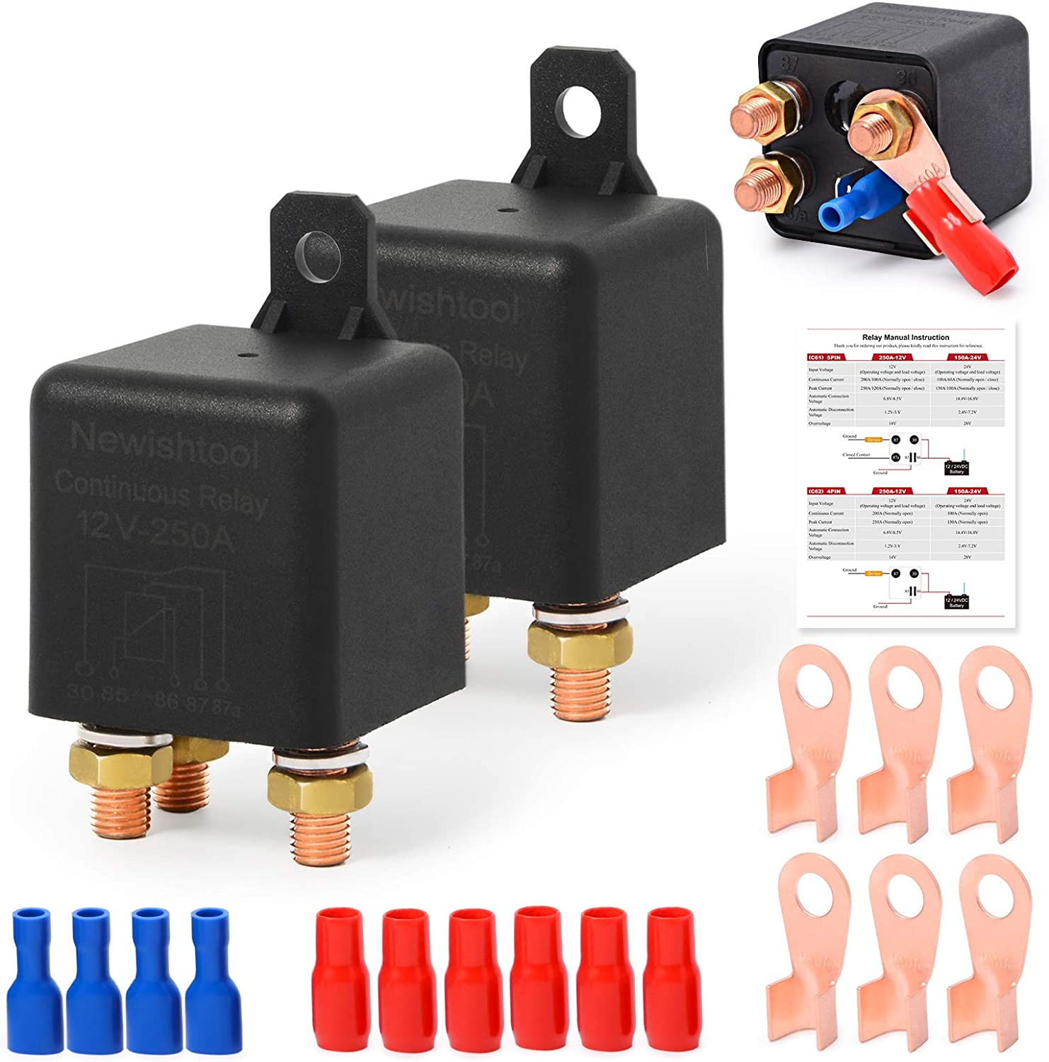 12V Max 47% OFF 250A Continuous Relay On Power Start Indianapolis Mall Off Automotive Switcher