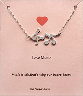 Best music charm necklace Reviews