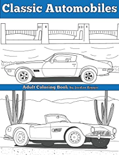 Classic Automobiles: An Adult Coloring Book