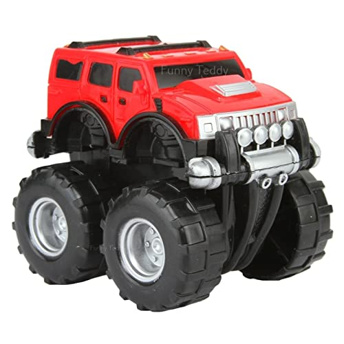 Funny Teddy Funny Teddy Unbreakable Hummer Car Toy Set (Small Car) | Monster Truck Automobile Monster Truck | Birthday Gift (Red)