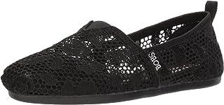 Skechers BOBS from Women's Bobs Plush-Leopard Crochet Ballet Flat
