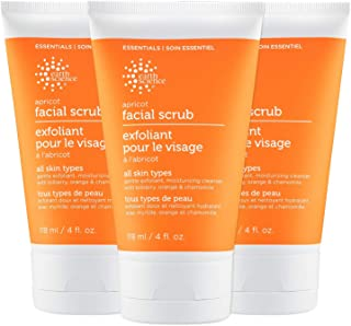 EARTH SCIENCE - Apricot Gentle Exfoliating Facial Scrub for All Skin Types (3 pk, 4 oz.)