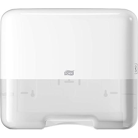 Tork Mini Distributeur pour Essuie-mains pliés en V/ ou C - 553100 - Elevation Design - Distributeur compact H3 pour papier d'essuyage, blanc