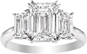 Best emerald cut diamond engagement ring white gold Reviews