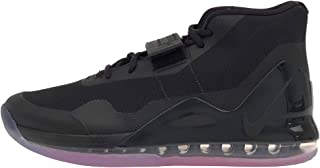 Men's Air Force Max Black/Bright Crimson/Anthracite Mesh Basketball Shoes 10 M US