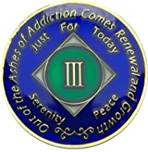 3 Year NA Gold Plated Medallion, Recovery Coin, NA Token