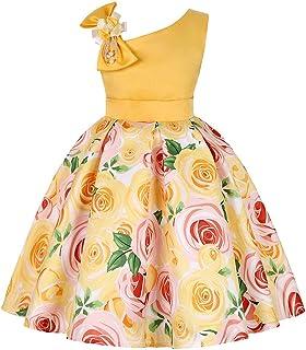 Btruely Prinzessin Kleid Mädchen Brautjungfern Kleid Blumen Abendkleid Hochzeit Cocktailkleid Partykleid Tüll Festzug Kinder Festzug Kleid Spitze Kleid