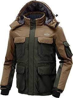 Men's Hooded Ski Jacket Waterproof Rain Coat Windproof Winter Parka