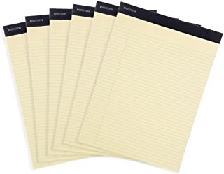 Mintra Office Legal Pads - ((BASIC CANARY 6pk, 8.5in x 11in, NARROW RULED)) - 50 Sheets per Notepad, Micro perforated Writ...