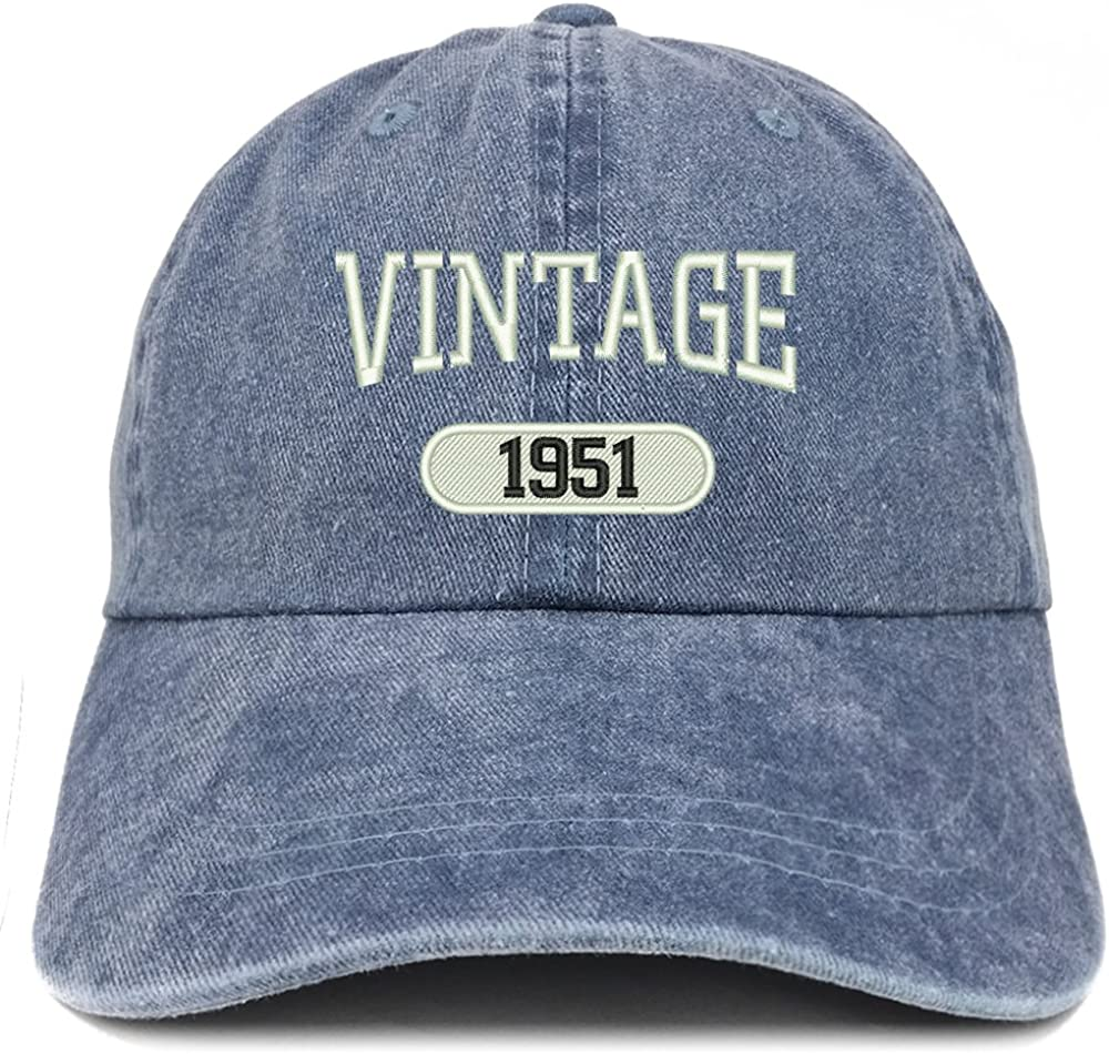 Trendy sold out Apparel Shop Vintage 1951 70th Soft Price reduction Birthday Embroidered