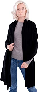 100% Cashmere Wrap Cable Knit Shawl Extra Large Scarf (78