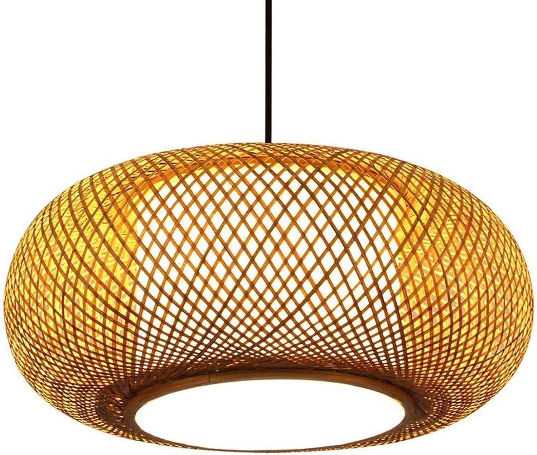 Vintage Led Kronleuchter Klassisch Creative Pendelleuchte Handgemachter Bambus Art Hngelampen Speise Laterne Wohnzimmer Schlafzimmer Arbeitszimmer Dekoration Lampe -50cm