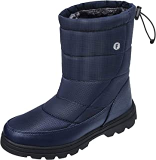 Mens Womens Snow Boots Winter Lightweight Anti-Slip Water Resistant Fur Lined Cold Weather Shoes