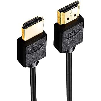 Hanwha HDMIケーブル 10m 細線 5.5mm Ver2.0b スリム ハイスピード 8K 4K 2K対応 UMA-HDMI100