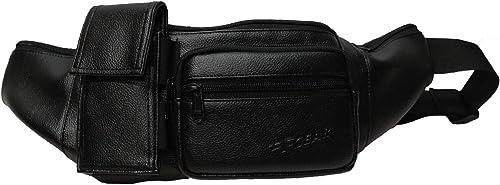 Potent Art Leather Black Sports Waist Bag 3679