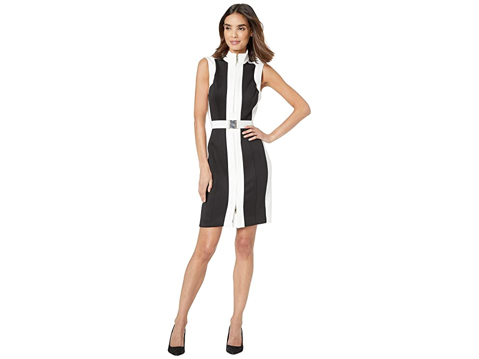 Tommy Hilfiger Heavyweight Scuba Dress (Black/Ivory) Women
