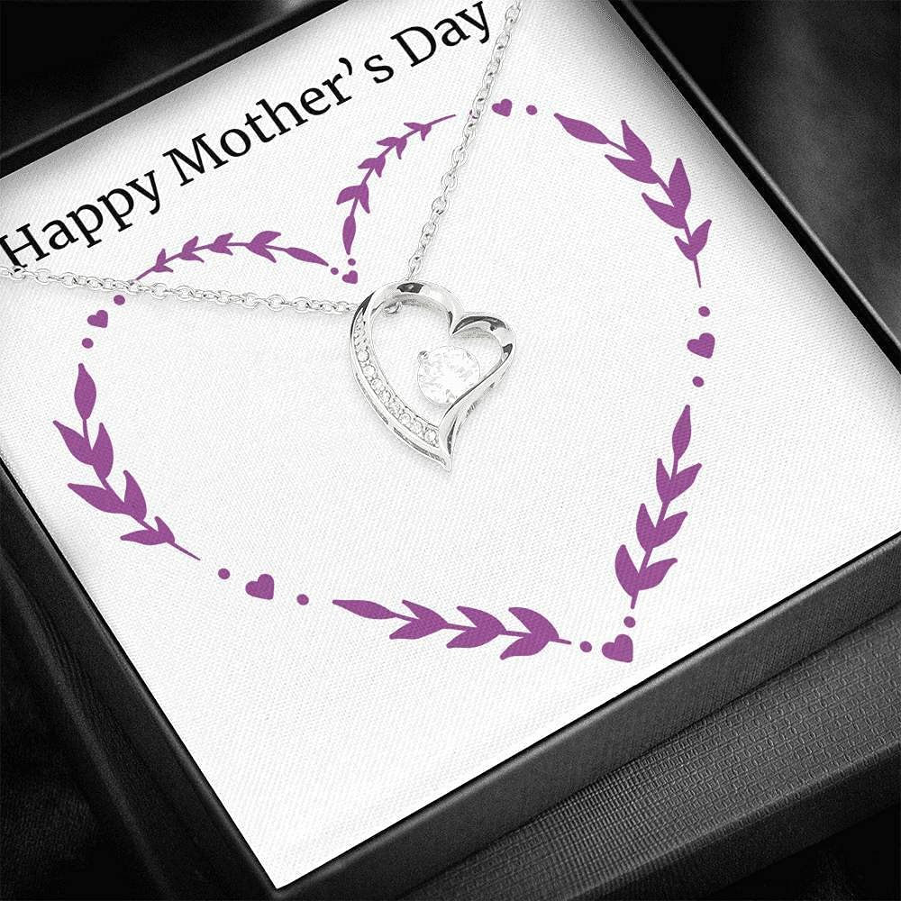 To My Mom Necklace With Message Gift Ranking TOP4 Meaningful For G Card Max 90% OFF