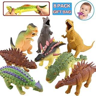 Baker Ross Dinosaurios que lanzan agua Juguetes de goma que flotan con dise/ños variados ideales para la hora del ba/ño o para actividades acu/áticas Pack de 4
