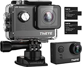 ThiEYE T5e WiFi Sport Camera,Ultra 4K HD16MP Sony Sensor/Ambarella Chipset Action Video Cam Compatible with External Mic,197FT Waterproof,170 Wide Angle,App Control, Dual Rechargeable Batteries