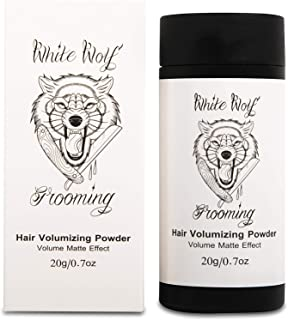 White Wolf Hair Styling Powder for Men — Instant Thickening Volumizer Dust for Fine & Thinning Hair — Firm Hold & Matte Finish — Cruelty Free, Natural & Vegan